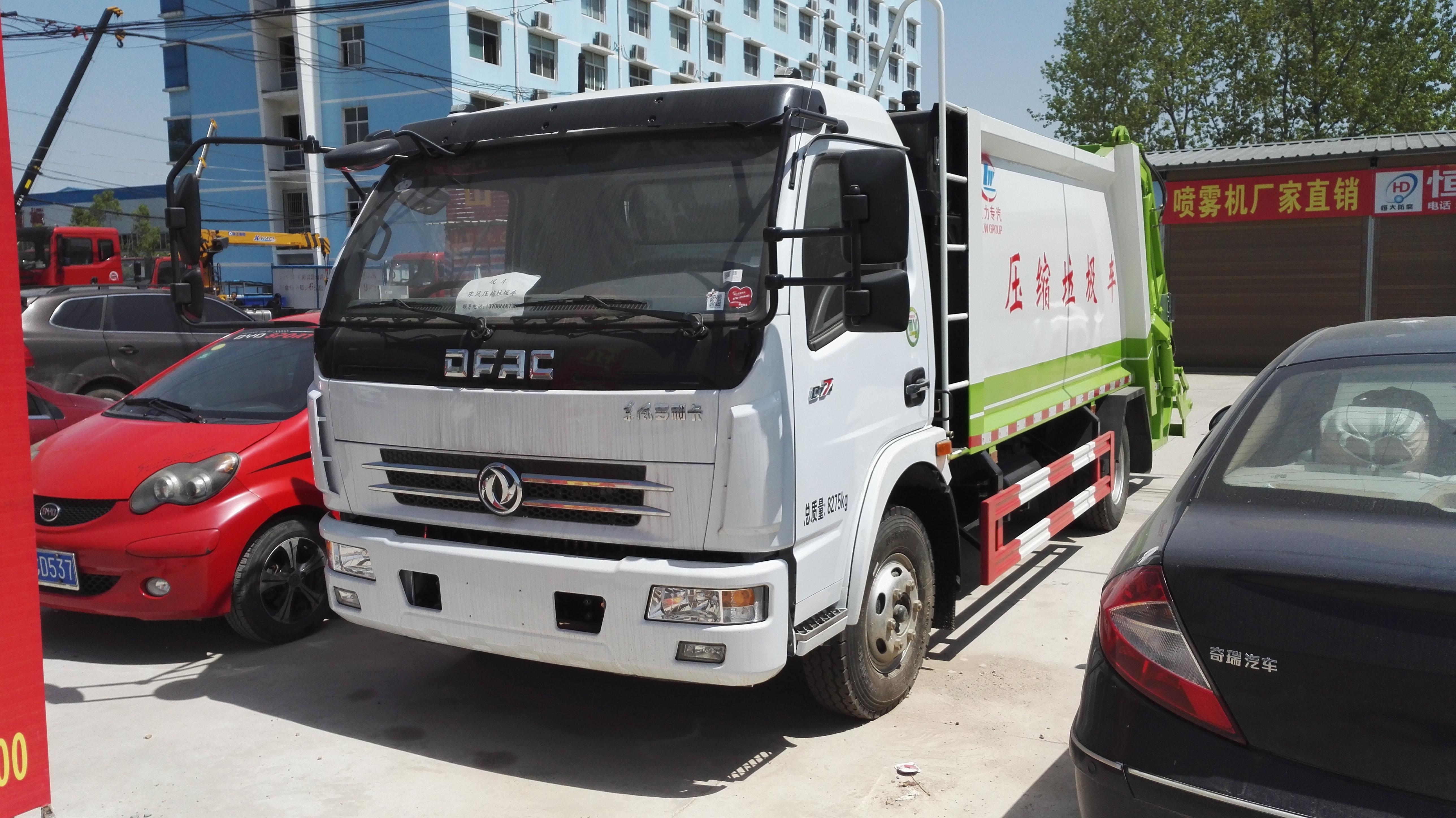 东风多利卡压缩式垃圾车(国五型)